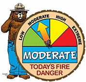Moderate Wildfire Danger Level